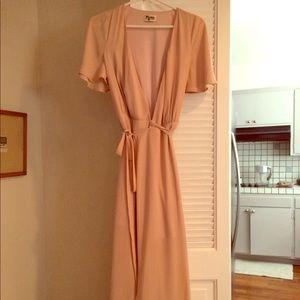 Show Me Your Mumu Sophia Wrap Dress - Dusty Blush